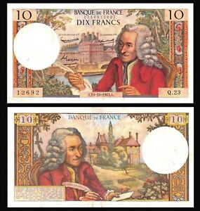 France-10-Francs-1963-Voltaire-Serie-A10-VF-XF