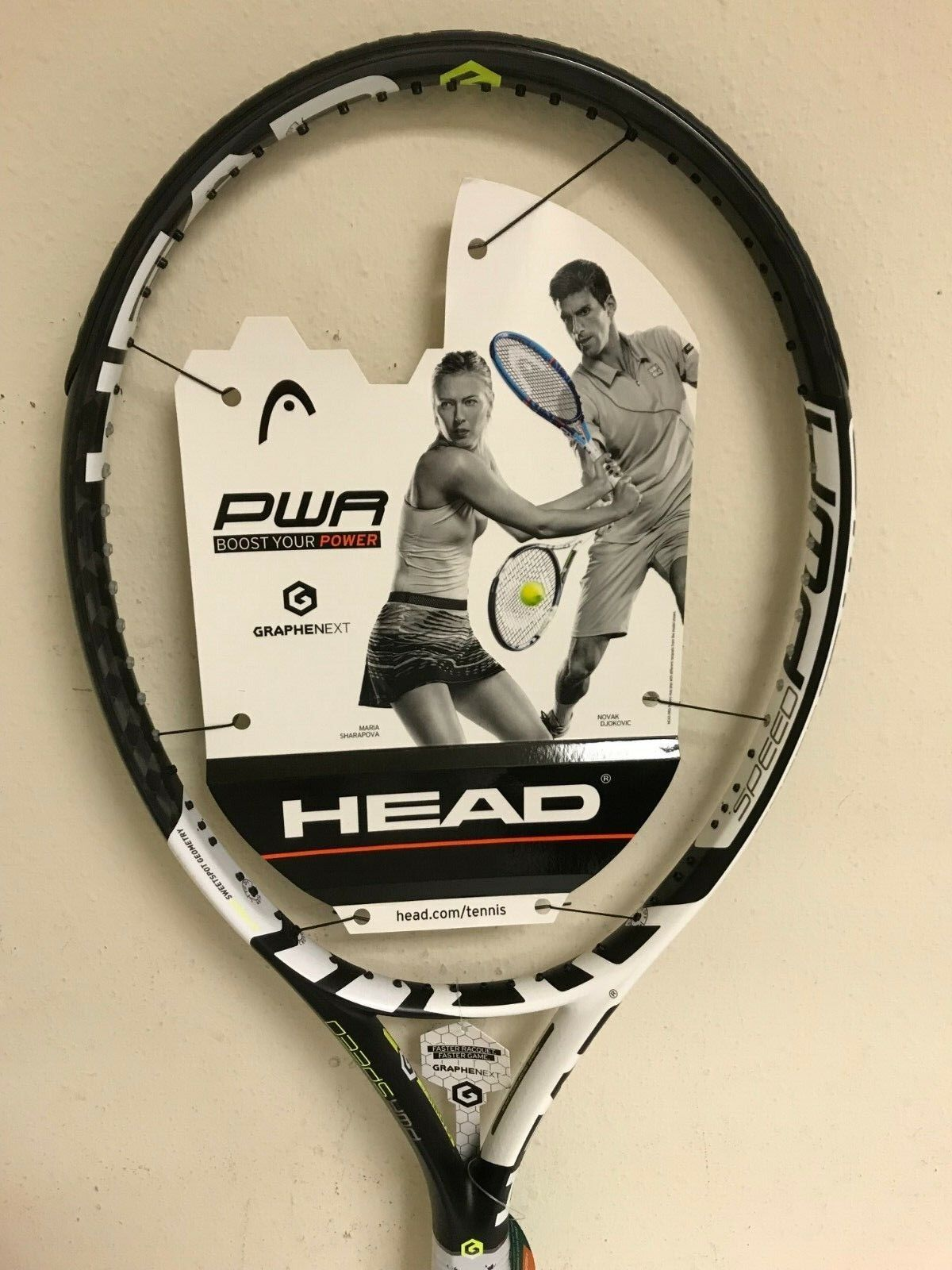 Head Graphene XT Speed Power Tennis Racquet Grip Size 4 3 8""
