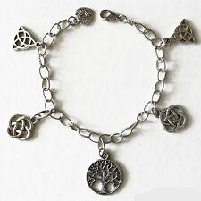 bijou celtique médiéval Bracelet  Arbre de vie - Noeuds celtiques-Triquetra