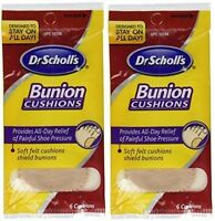 2 Pack - Dr. Scholl's Soft Felt Bunion Cushions, 6 Per Pack on sale