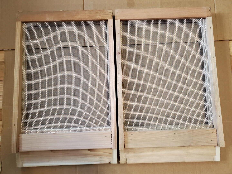 Pine 10 frame slatted rack for Langstroth bee hive