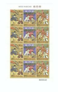 Macao-Macau-1997-Martial-Arts-Sheetlet-Stamps-MNH