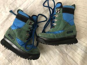 LL Bean Kids Hiking Boots Blue \u0026 Forest