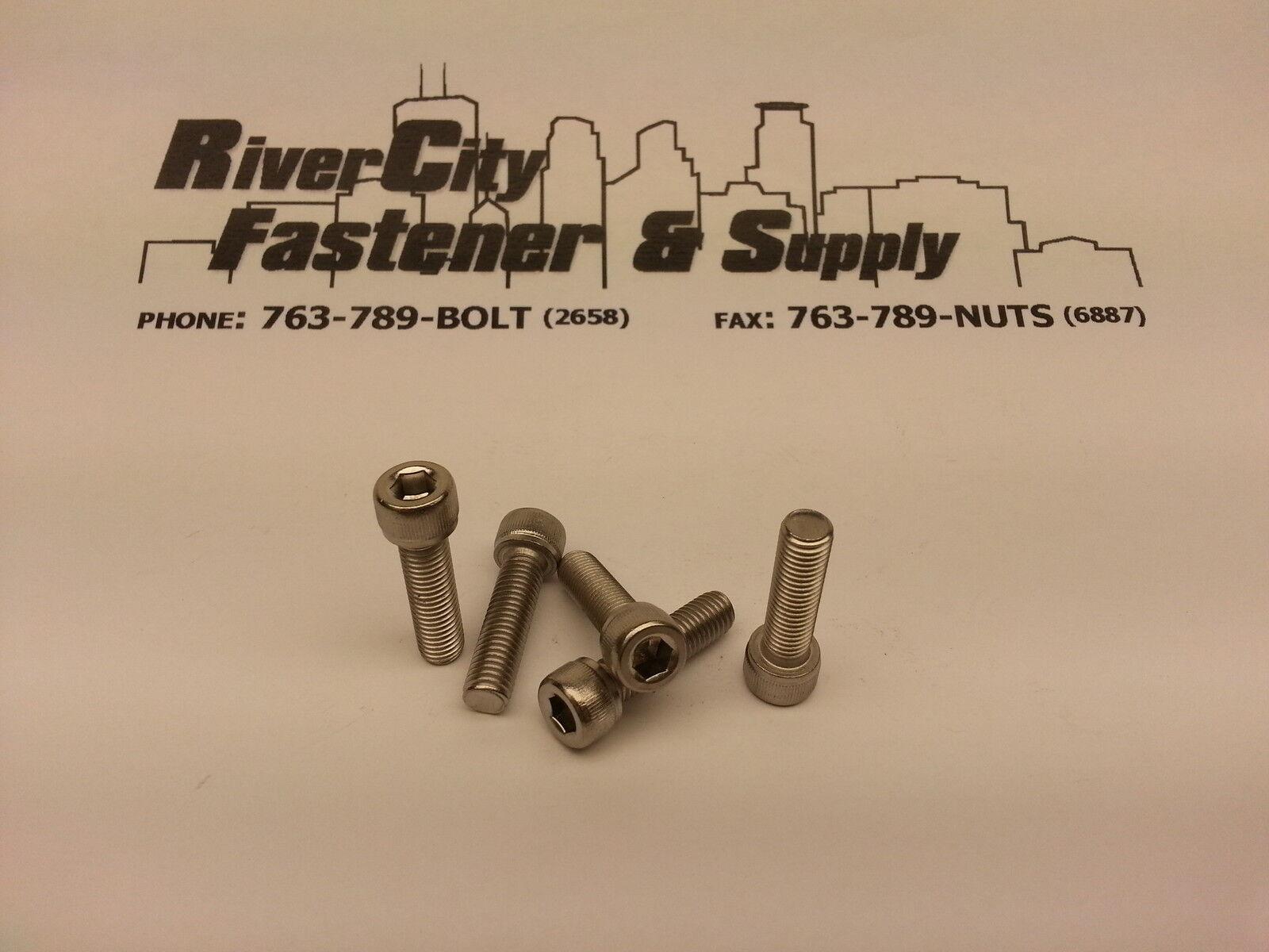 M2.5-0.45x10  Socket 100 Allen Head Cap Screw Stainless Steel 2.5mm x 10mm