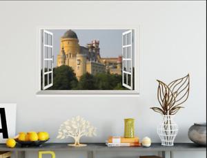 3D Castle Building Tree 02 Open Windows WallPaper Murals Wall Print AJ Jenny