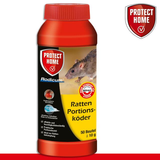 Protect Home 500G Rodicum Ratas Portionsköder (50x10g) Gift Garaje Keller Casa