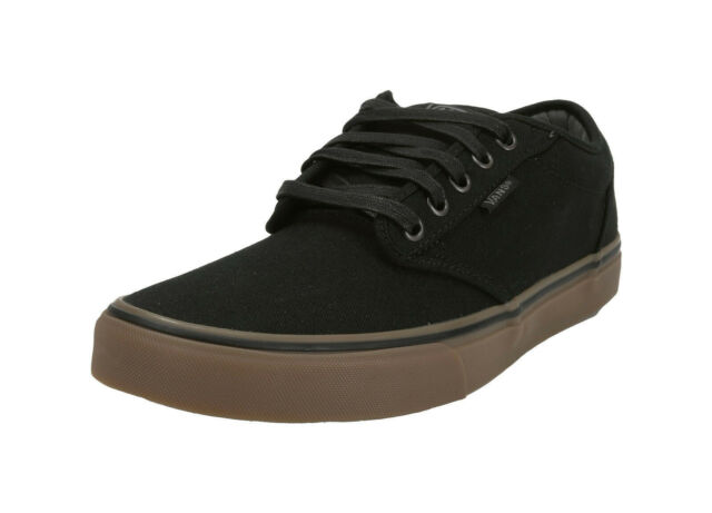 fe14f774e70f VANS Atwood 12 Oz Canvas Black gum Brown Classic Skate Sk8 Old Skool ...