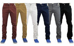 Mens-Chino-Jeans-Stretch-Skinny-Straight-Leg-Casual-Pants-Trouser-All-Waist-Size