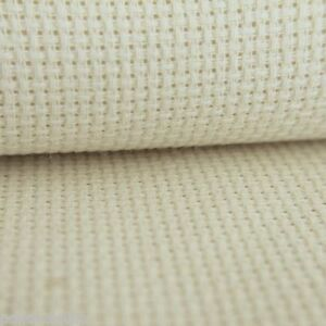 14 count toile Aïda 100/% coton point de croix en blanc /& crème différentes tailles