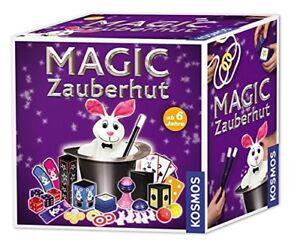 Kosmos-Magic-Zauberhut-mit-Pluesch-Kaninchen-Kinder-Zaubertricks-Spielzeug-NEU