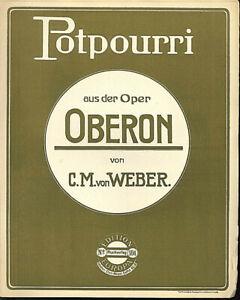 C-M-von-Weber-Potourri-aus-der-Oper-034-Oberon-034-alte-Noten-in-Ubergroesse