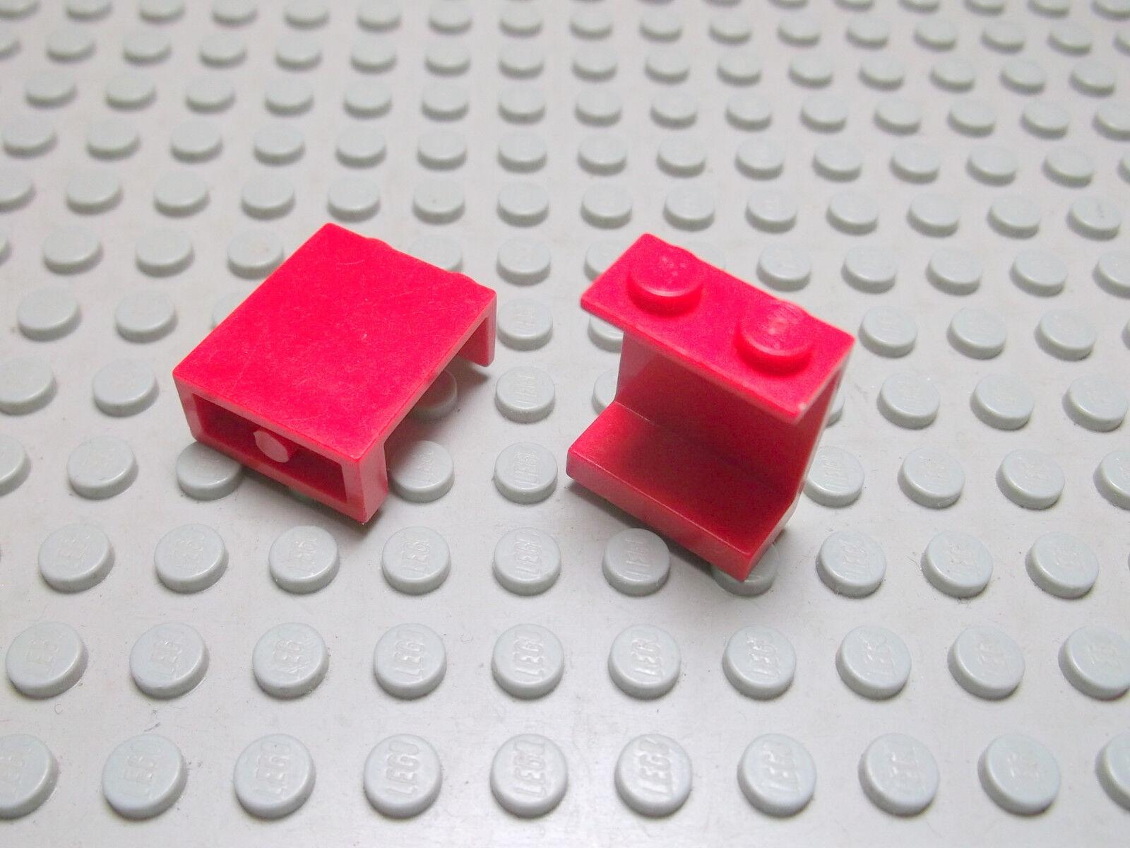 LEGO 8 x Panel Wand 4864a   1x2x2 rot   Noppe geschlossen gebr.