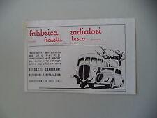 advertising Pubblicità 1947 FABBRICA RADIATORI FRATELLI TESIO - TORINO