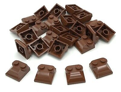 Lego Lot of 25 New Reddish Brown Bricks Modified 2 x 2 x 2//3 Two Studs Curved