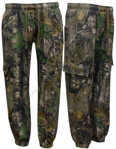 4XL Homme Jungle Pêche//Chasse Camouflage Polaire Pantalon De Jogging Pantalon S