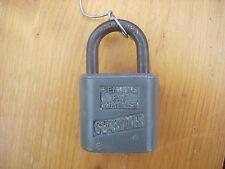 SLAYMAKER SAFEGUARD pad lock with original key vintage