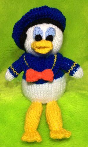 Tejer patrón-Donald Duck inspirado Chocolate Tapa Naranja//23 CMS de juguete