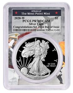 PRESALE 2019 W Burnished Silver Eagle PCGS SP70 First Day Issue Label