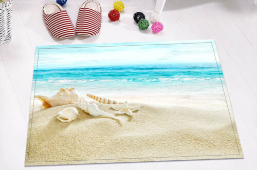 "24x16/"" Seaside Ocean Holiday Non-Slip Bathroom Decor Carpet Bath Mat Rug Carpet"