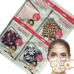 Womens Ladies Girls Breathable Mask Washable Face Mouth Protection Masks Uk Ebay
