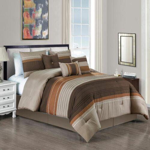 7 Piece Windus Coffee//Taupe Comforter Set