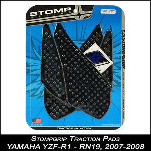 STOMPGRIP-Pads-de-traccion-YAMAHA-YZF-R1-07-08-RN19-negro-Tapa-de-tanque