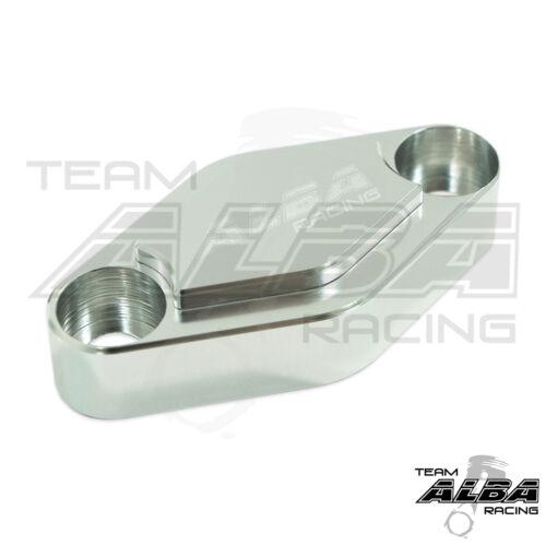 Suzuki LTZ 400  LTR 450  Parking Brake Blockoff Plate  Block off Plate  Silver