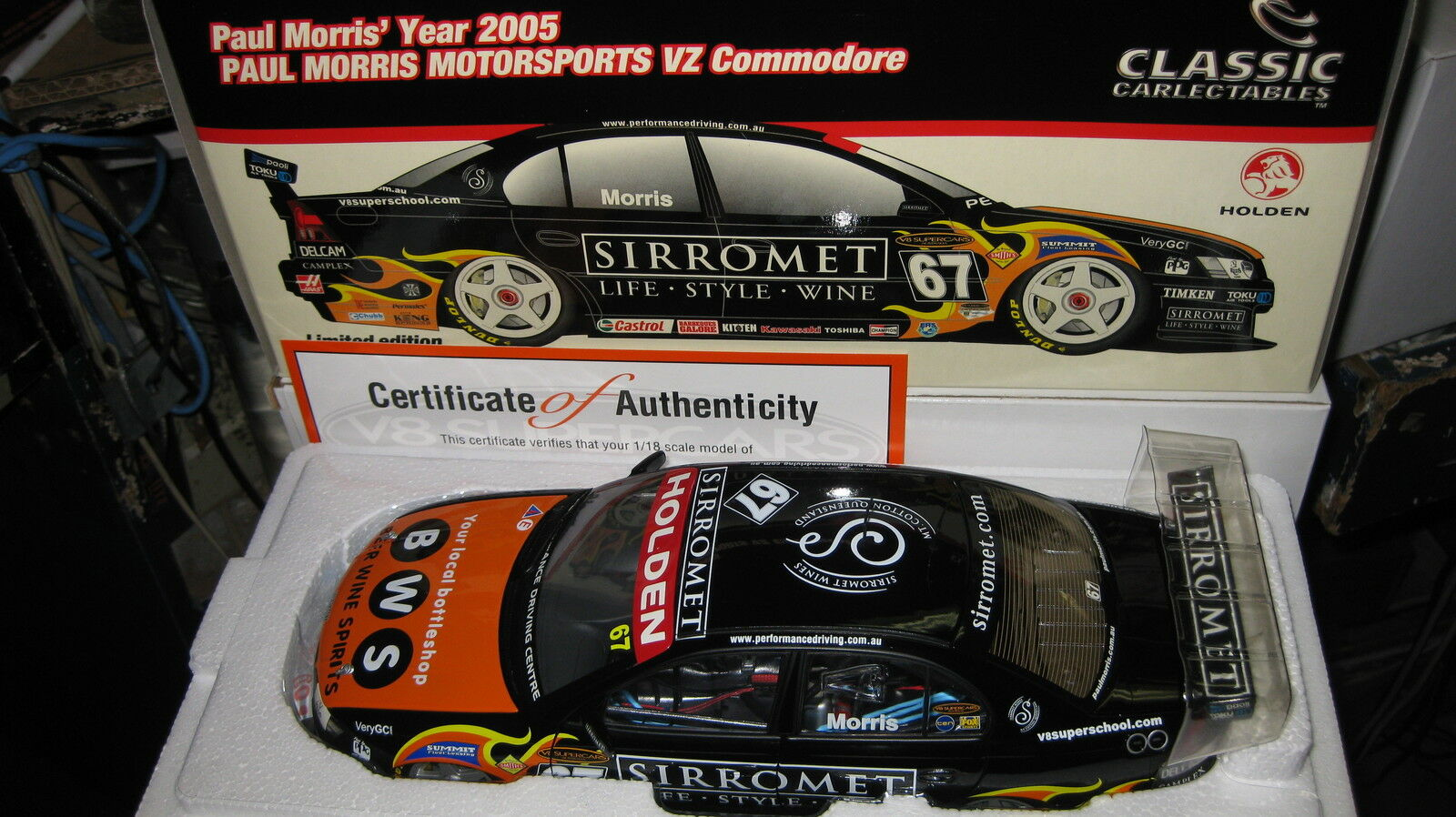 1   18 klassiker holden vz commodore paul morris sirromet 2005 v8 supercar   67 18183