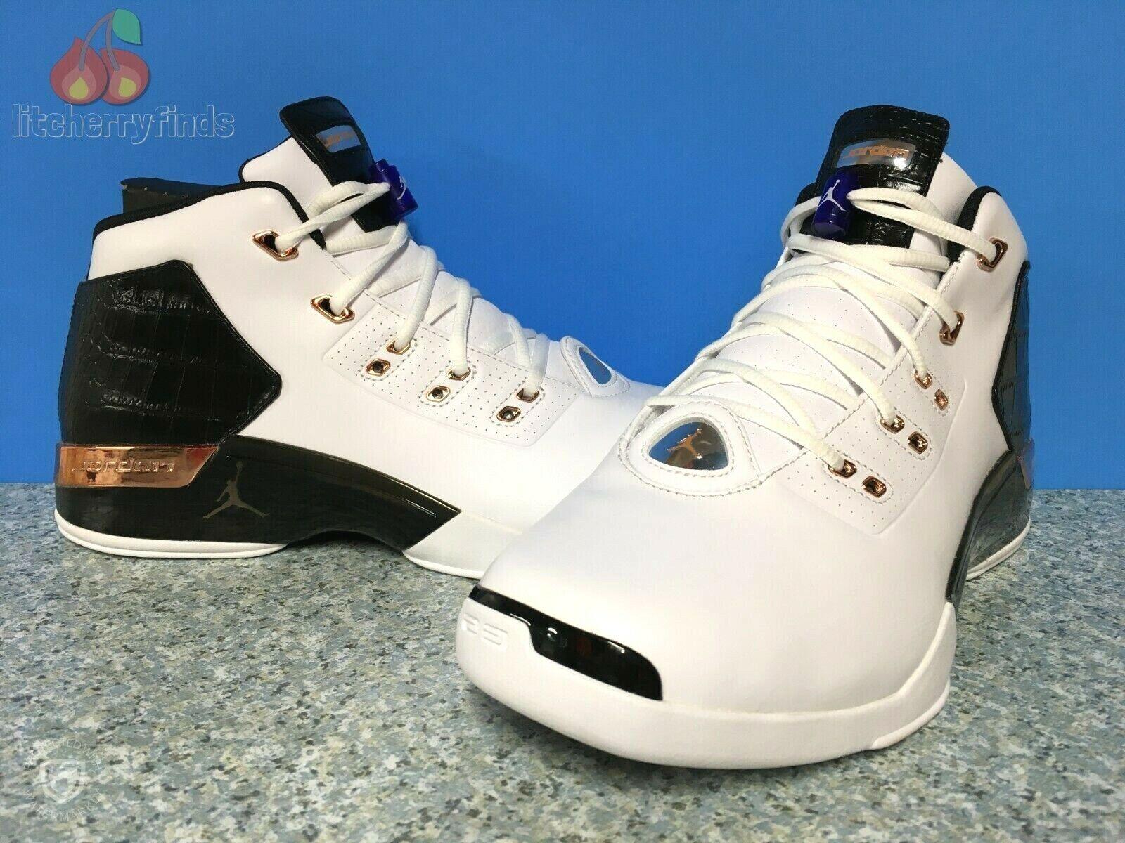 7d430b3c16ac5c Nike Air Jordan 17+ Retro XVII Men Size 11 11 11 White Copper Coin Black