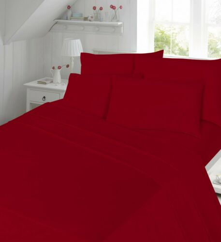 """Percale T180 Extra Deep 16/"""" Fitted Flat Valance Sheet Single Double Super King"""