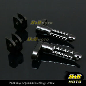 For-Kawasaki-ZZR-1400-10-11-12-13-14-15-BLACK-25mm-Adjustable-Front-Foot-pegs