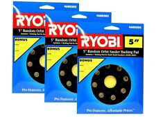 "3 Pack RYOBI 5"" Random Orbit Sander Backing Sanding Pad 4600505 for RS240, RS241"