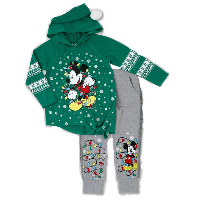 2T Disney Mickey Mouse Infant Toddler Girls/' Long Sleeve Tunic /& Legging Set