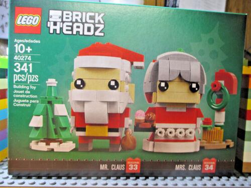 LEGO  40287 BRICK HEADZ CHRISTMAS MR CLAUS MRS CLAUS SEASONAL NEW!!!