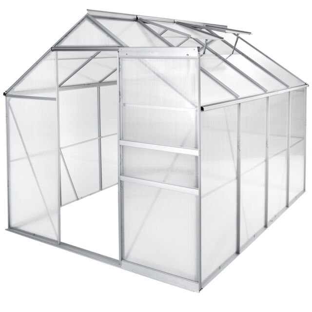 TecTake 402476 2 5x2 m Polycarbonate Greenhouse with Aluminium Frame