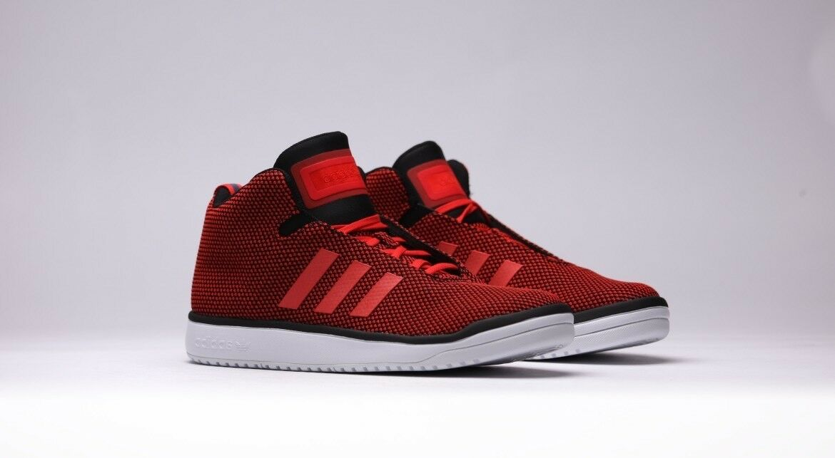 ADIDAS VERITAS MID B24559 RED WHITE MEN Größe 13 US 100% ig authentisch