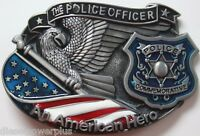 Belt Buckle Replacement Latch United States Police Officer Usa Flag Us American
