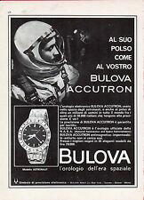 ▬►Pubblicità Advertising Werbung 1966 BULOVA ACCUTRON Astronaut