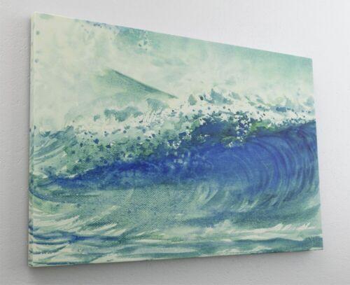 Gemälde Kunst Welle Meer Leinwand Canvas Bild Wandbild Kunstdruck L2166