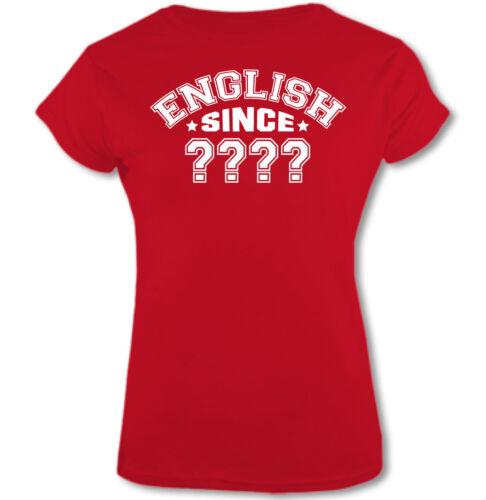 ENGLISH SINCE Womens Funny Birthday T-Shirt 18th 21st 30th 40th 50th 60th 65th