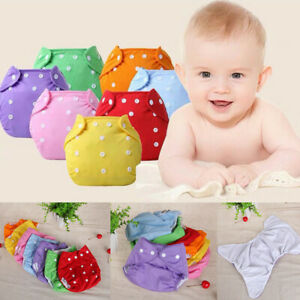 Baby-1-7PC-Newborn-Reusable-Nappies-Adjustable-Diaper-Washable-Cloth-Diaper-P