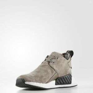 details for new cheap get online Details about Adidas NMD C2 Suede Simple Brown / BY9913 / Men Chukka Nubuck  Boost White Black