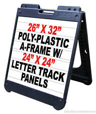 Poly A Frame 26x 32 Sidewalk Sign Withletter Track Inserts Amp Letters