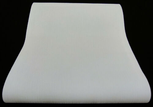 05409-10- 1 Rolle Papiertapete Streifen-Struktur keine Raufaser weiß