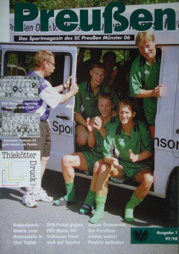 Pokal FSV Mainz Programm 1997//98 SC Preußen Münster Germania Teveren