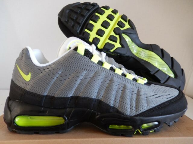 new styles 2c7c6 8ec96 NIKE AIR MAX 95 EM COOL GREY-VOLT-BLACK-WHITE SZ 8