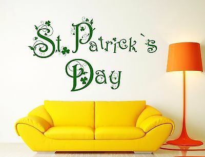 Set of 174 Shamrock Clover leaves Decal Car Laptop Wall Sticker St Patricks day