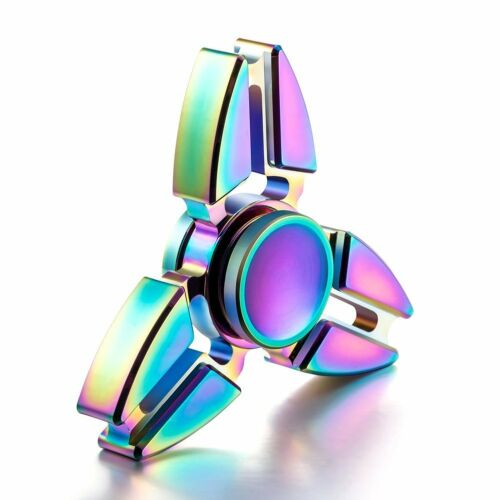 Ninja Rainbow Tri Star Fidget Spinner Metal EDC Desk Anxiety Relief Hand Toy