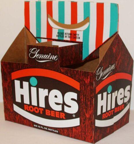 Vintage soda pop bottle carton HIRES ROOT BEER Genuine new old stock n-mint cond