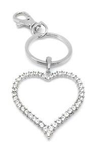 Heart-Key-Ring-Handbag-Charm-Clear-Crystal-Zipper-Pull-Jewelry-Valentines-Gifts